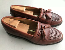 ALLEN EDMONDS CODY Mens Kiltie Leather Tassle Dress Slip On Loafer Brown 9D
