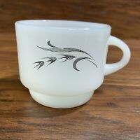 Fire King Harvest Silver Wheat Coffee Tea Cup Milk Glass
