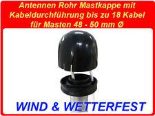Mastkappe mit Kabeldurchführung Sat Rohr Antennen Abdeckung 48 - 50 mm Ø Masten