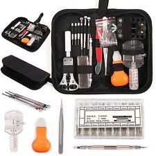 288 Pcs Watchmaker Watch Repair Tool Kit Back Case Opener Remover Spring Pin Bar