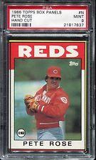 1986 Topps Box Bottom #N Pete Rose PSA 9  LOW POP Reds