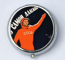 Soviet Astronaut space propaganda pillbox PILL case box holder russia ussr cccp
