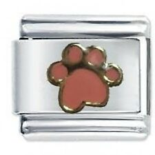 PINK PAW  Dog Cat - Daisy Charms Fits Nomination Classic Italian Charm Bracelet