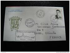 TAAF lettre 2/7/84 - timbre stamp - yvert et tellier n°104 (cy6)