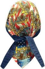 American Legend Eagle Doo Rag Headwrap Skull Cap Biker Durag Sweatband Capsmith