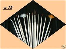 Lot 15 PINCEAUX ART NAIL ONGLES DECO RESINE GEL UV MANUCURE PRO