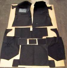 1968-1977 C3 CORVETTE CPE BLACK LOOP SEWN TO CONTOUR CARPET WITH 20 OZ. PADDING