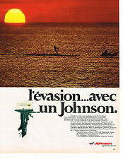 PUBLICITE advertising  1968    moteur de bateau Johnson