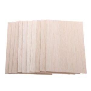 5PCS Wooden Plate Model Balsa Wood Sheets DIY House Aircraft 1~8mm Thick