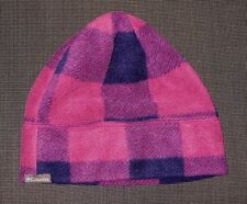 COLUMBIA PURPLE NAVY FLEECE BEANIE WINTER HAT GIRL'S BOY'S YOUTH S/M 4-6 yo