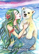 "ACEO LE Art Card Print 2.5x3.5 ""Little Polar Bear Baby"" Mermiad Art by Patricia"