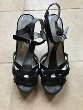 Lovely Black Guess Cork Wedge Sandals. 4.5/37.5