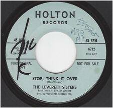 LEVERETT SISTERS - STOP, THINK IT OVER / A PLACE FOR ME - HOLTON 6712
