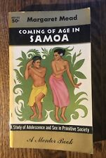 COMING OF AGE IN SAMOA by Margaret Mead vintage 1956 Mentor paperback SOCIOLOGY