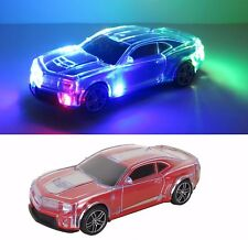 """Red Sports Car w/ Colorful Changing Lights Music Drives - 8.5"""" L New"""