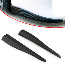 2x 3D Carbon Fiber Car Bumper Corner Side Scrach Protector Sticker Strip Guard