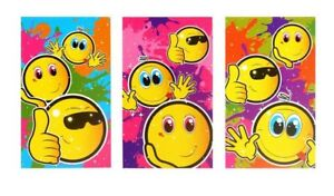 Mini Smiley Face Notebooks / Notepads - Assorted Designs Party Bag Filler kids