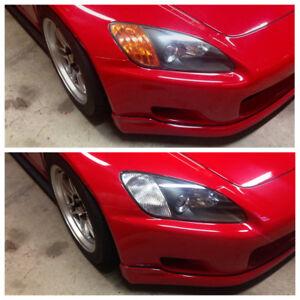 JS2k.com AP1 S2000 JDM Clear Headlight Diffusers Reflectors Honda