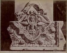 Sienne Siena Italie Italia Bas-Relief Vintage albumine ca 1885