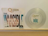 "Queen ‎– The Invisible Man - Clear  7"" Vinyl Single -1989-Parlophone  QUEENX 12"