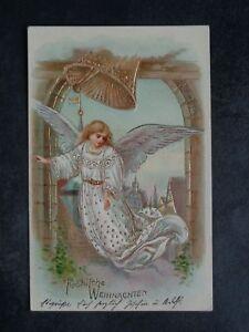 ENGEL - schwebender Engel Glocke Weihnachten Goldglanz geprägt - 1905