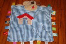 Taggies Blue Stripe Puppy Dog Security Blanket Peek A Boo Buddy Lovey Baby Bone