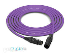 Canare Quad Cable L-4E6S | Neutrik Gold XLR-F XLR-M | Purple 30 Feet | 30 Ft 30'