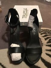 Truffle Black PU Block Heels