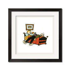 Calvin and Hobbes Bedtime Story Poster Print