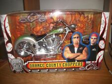 ORANGE COUNTY CHOPPERS IRON LEGENDS SILVER/GREEN 1/6 DIECAST MOTORCYCLE 1:6 BIKE