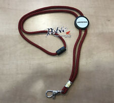 2017 Genuine Honda OEM Bike Car F1 Motorcycle Original Red & Black Lanyard Cord