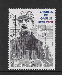 French Colonial- TAAF 1991 General De Gaulle STC £13 Fine used
