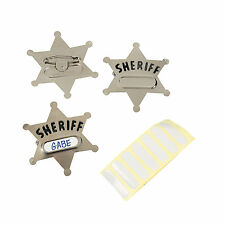 12 Party Favors Western Cowboy Metal SHERIFF Deputy Badge BADGES ~ NEW