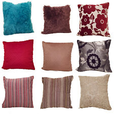 "Assorted Scatter Cushion Covers Plain Fur Stripe Floral 45cm x 45cm / 17"" x 17"""