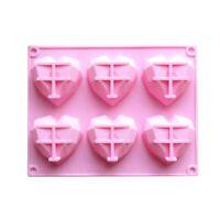 Silicone 3D Heart Shape Fondant Cake Chocolate Baking Mold Mould Modelling Naive