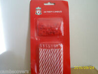 Liverpool Football Club 24 Party Cake Candles With Holders..Official Product