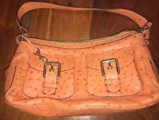 Dooney and Bourke Light Orange Leather Tote Shoulder Bag Purse (David)