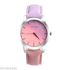 Damen Uhr Quarz Armbanduhr Elegant Retro Regenbogen Design Analog Legierung