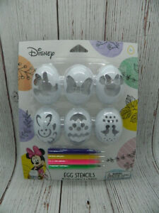 Disney Minnie Mouse Easter Egg Stencil Set with Markers NEW
