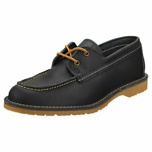 Red Wing Wacouta Camp Moc Homme Navy Cuir Chaussures Classique