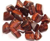1 lb Bulk Lot Tumbled Red Tiger Eye Natural Polished Gemstones Zentron Crystals