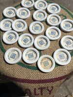 Lot Of 20 Vintage Milk Bottle Caps Sun-ray-lea Farm Abington Massachusetts Skim
