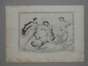 Piritoo Tenta Billy Paderni Kupferstich Herculaneum Hippodamia Zentaurus - 1760
