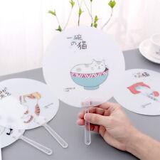 Hand Fan Cute Travel Fan Unicorns cactus cat Shape Cloth Fan Japanese Style Hu