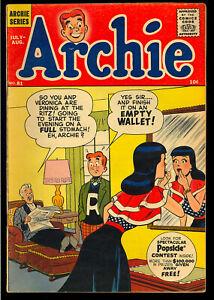 Archie Comics #81 Nice Early Silver Age Teen Humor Comic 1956 VG-FN