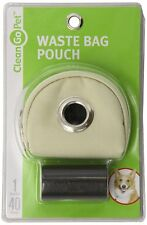 Clean Go Pet Waste Bag Pouch for Dogs and Cats, Khaki