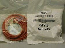 """5 MSC S70-245 WorkSmart #245 4 3/8"""" I.D x 4 5/8"""" O.D. Silicone O-Rings 1/8""""T"""