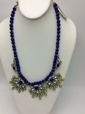 $42.50 M.Haskell Necklace Blue  Statement Mixed-Bead Fashion Jewelry HA 11
