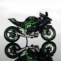 Diecast 1:18 Model Car Maisto Kawasaki H2R Motorcycle W/Base Children Toy Gift
