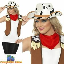 Instant Kit Wild West Female Western Country Indian Women's Fancy Dress Costume